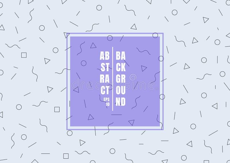 Línea fina plana estilo del modelo geométrico de moda en fondo azul claro Usted puede utilizar para el diseño de la web, del cart stock de ilustración