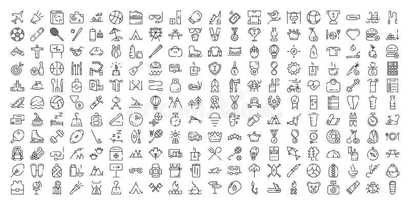 Línea fina sistema del icono ilustración del vector