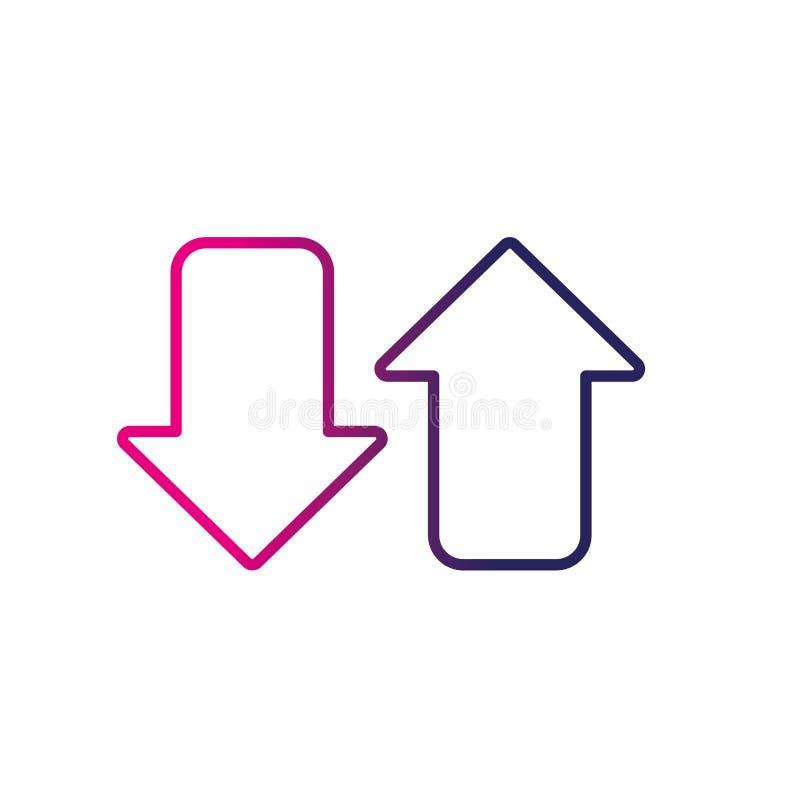 Línea flechas a cargar la conexión de datos digitales libre illustration