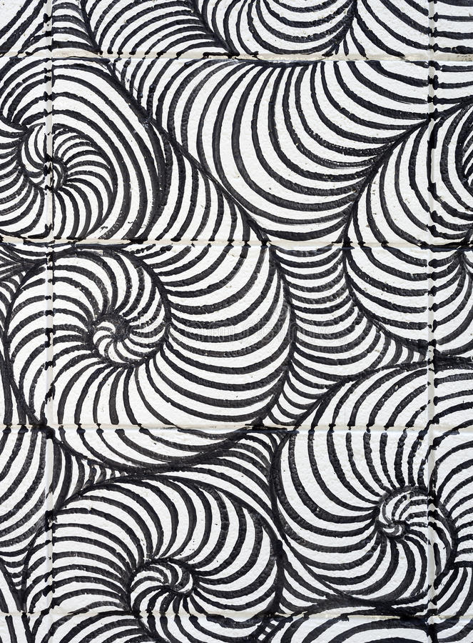 Línea fondo del rizo del extracto del arte del modelo del espiral fotografía de archivo libre de regalías