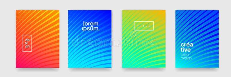 Línea fresca abstracta fondos del modelo, textura geométrica y pendiente del color El arte gráfico creativo del vector cubre el f stock de ilustración