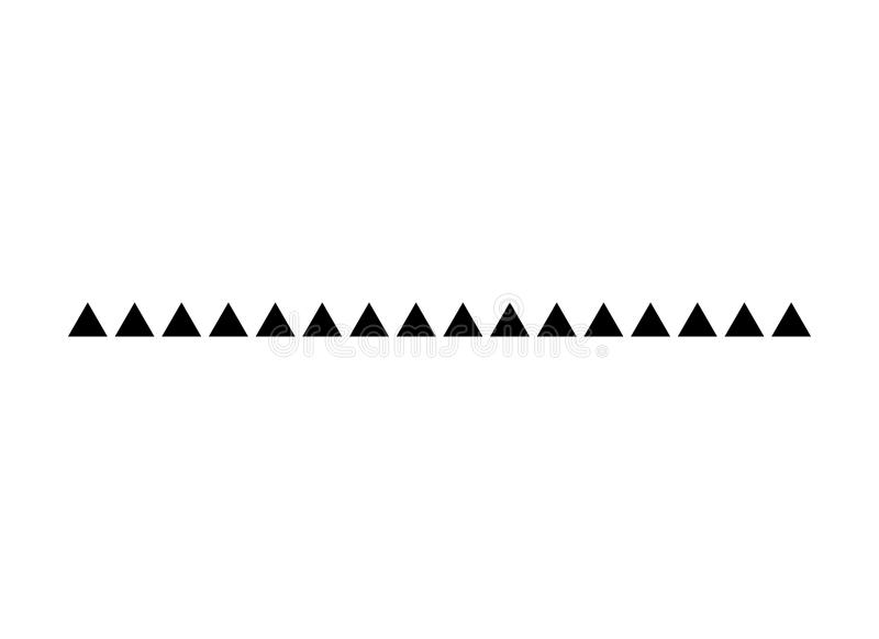 Línea frontera moderna del triángulo del pie de página del diseño del vector del divisor ilustración del vector
