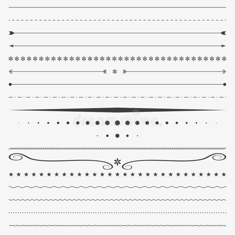 Línea frontera, vector de la esquina del diseño, divisor stock de ilustración