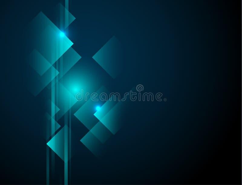 Línea geométrica abstracta fondo de la tecnología del vector ilustración del vector