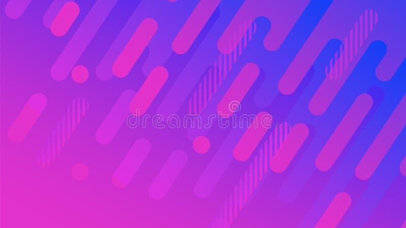 Línea geométrica abstracta fondo del modelo para el diseño de la cubierta del folleto del negocio Plantilla azul, rosada del cart libre illustration