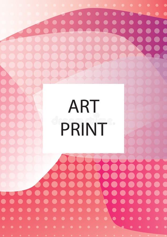 Línea geométrica abstracta fondo del modelo para el diseño de la cubierta del folleto del negocio Vagos azules, amarillos, rojos, ilustración del vector