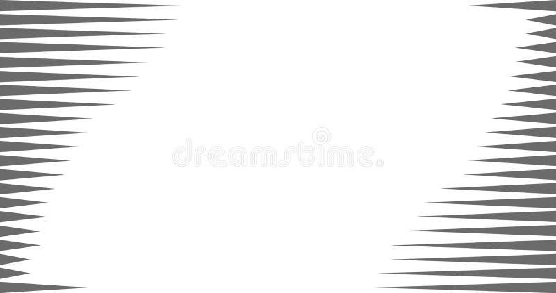 línea geométrica de la raya del vector del fondo del extracto del modelo del triángulo blanco y negro 4K, ejemplo del vector libre illustration