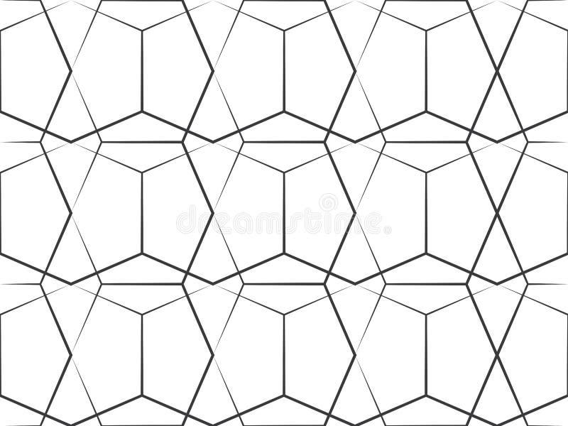 Línea geométrica modelo stock de ilustración
