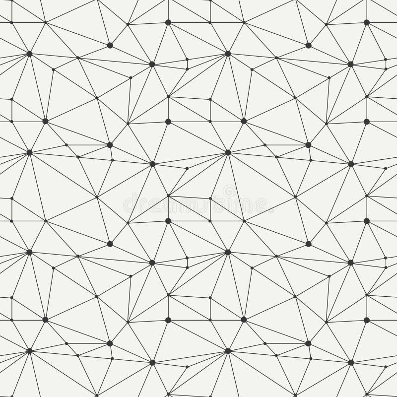 Línea geométrica modelo inconsútil del inconformista con ilustración del vector