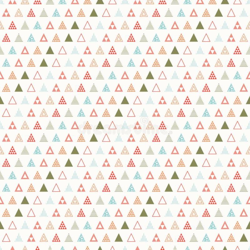 Línea geométrica modelo inconsútil del inconformista del extracto del color con el triángulo Papel de embalaje scrapbook impresió ilustración del vector