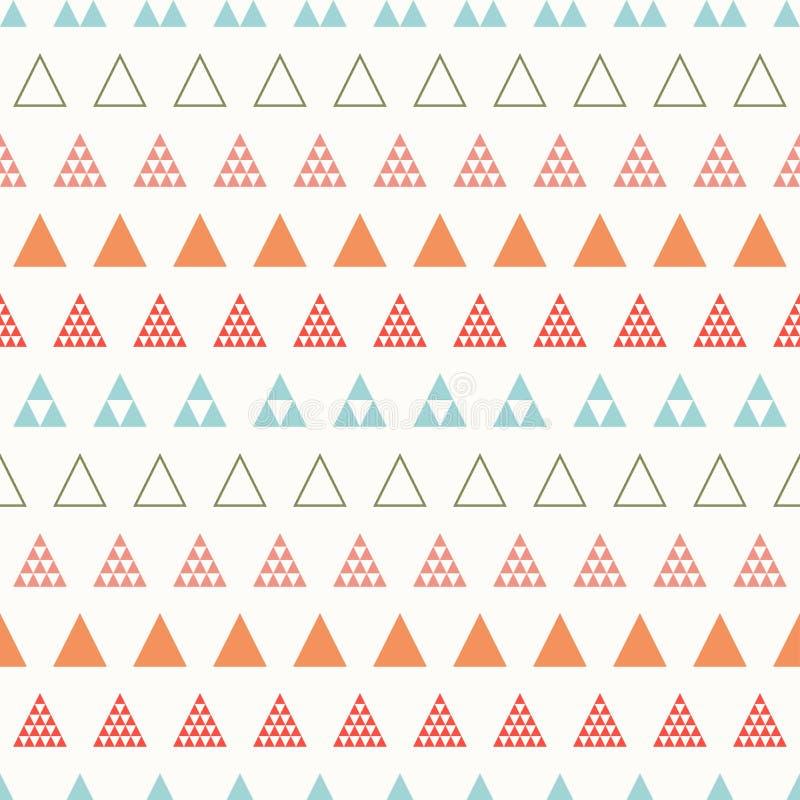 Línea geométrica modelo inconsútil del inconformista del extracto del color con el triángulo Papel de embalaje scrapbook impresió libre illustration