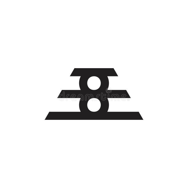 Línea geométrica vector del número 8 del símbolo del diseño libre illustration