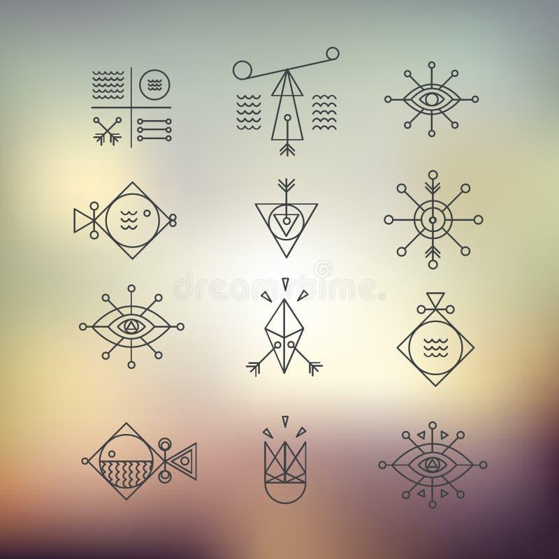 Línea geometría de las formas libre illustration