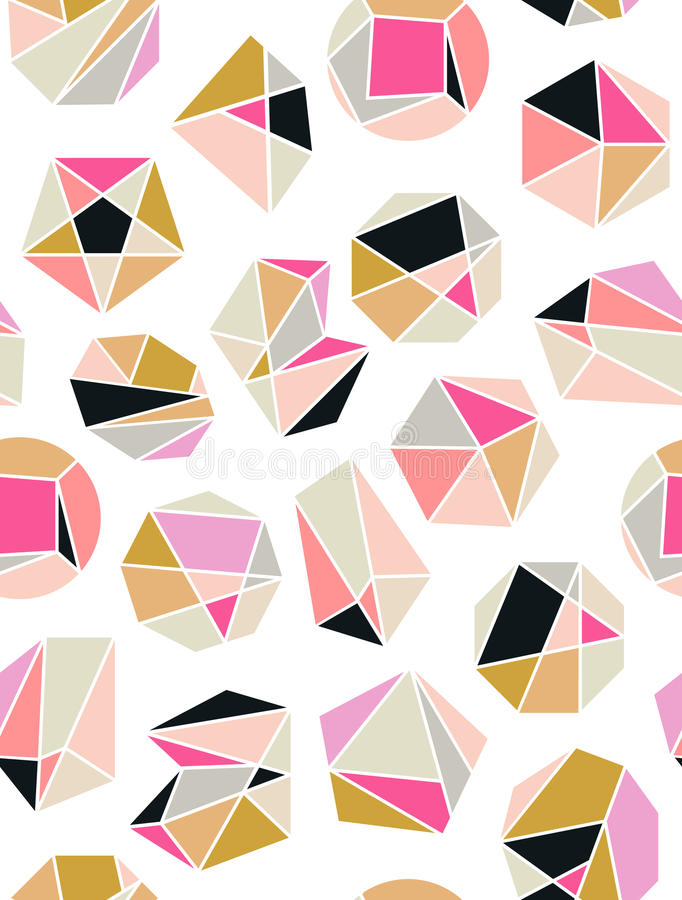 Línea geometría del cristal de las formas Diseño de los diamantes Alquimia, religión, filosofía, espiritualidad, símbolos del inc stock de ilustración