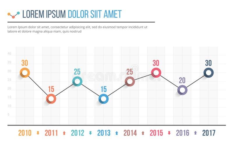 Línea gráfico stock de ilustración