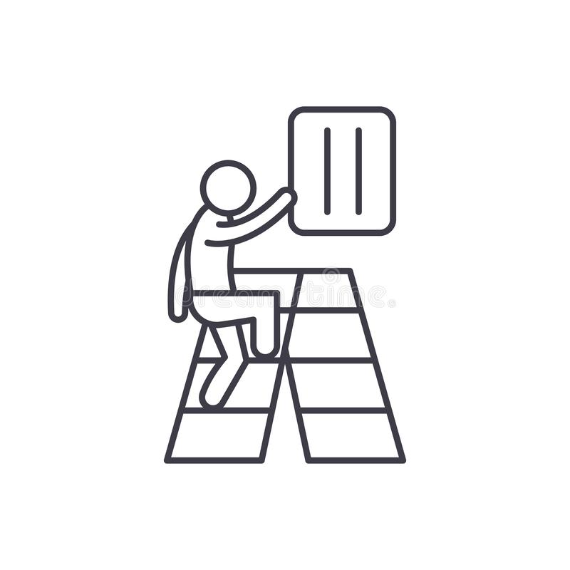 Línea gradual concepto del desarrollo del icono Ejemplo linear del vector gradual del desarrollo, símbolo, muestra stock de ilustración