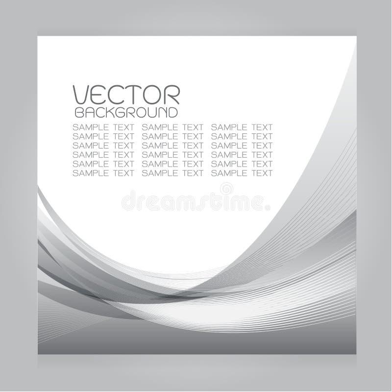Línea gris gradación de las curvas del fondo determinado del vector ilustración del vector