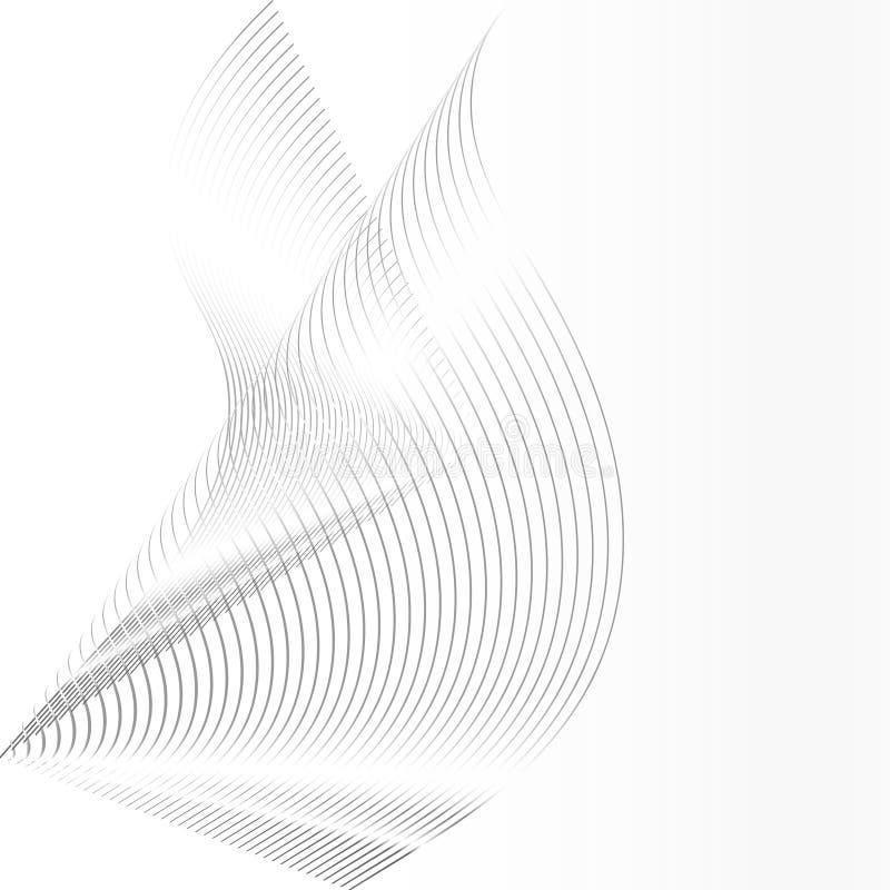 Línea gris ondas stock de ilustración