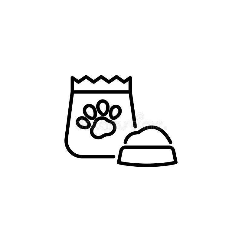 Línea icono Alimento para animales libre illustration
