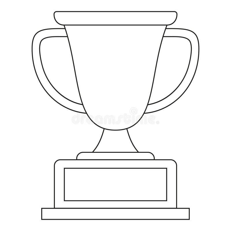 Línea icono blanco y negro de la taza del ganador del arte libre illustration