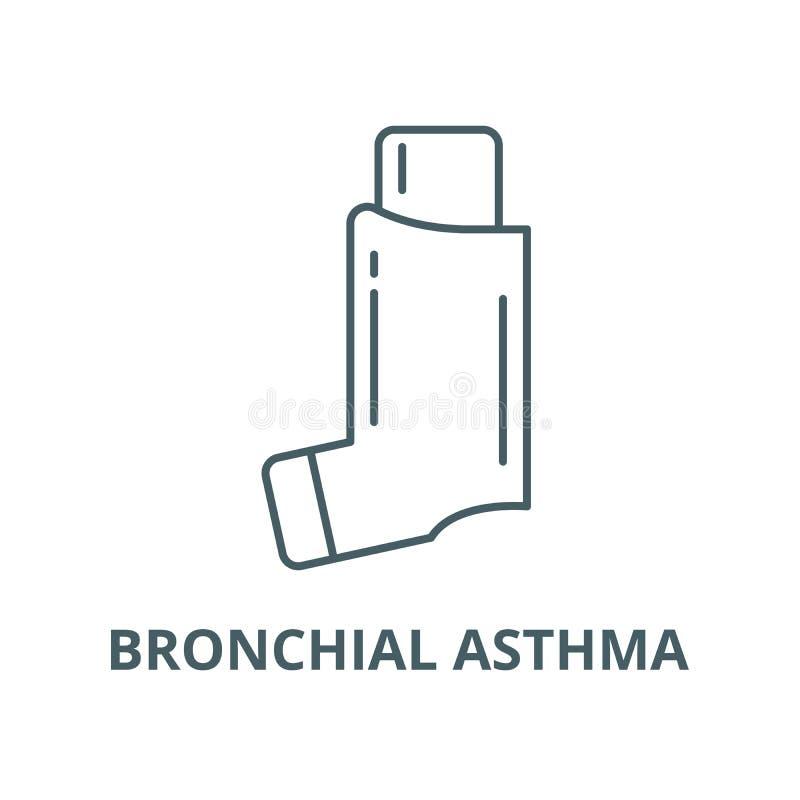 Línea icono, concepto linear, muestra del esquema, símbolo del vector del asma bronquial libre illustration