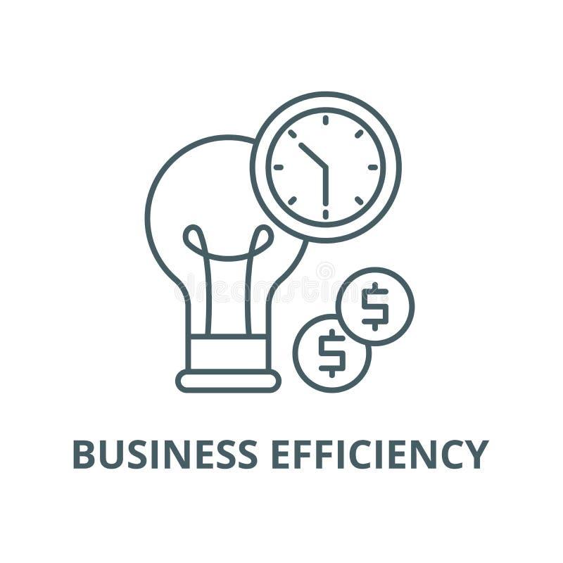 Línea icono, concepto linear, muestra del esquema, símbolo del vector de la eficacia del negocio libre illustration