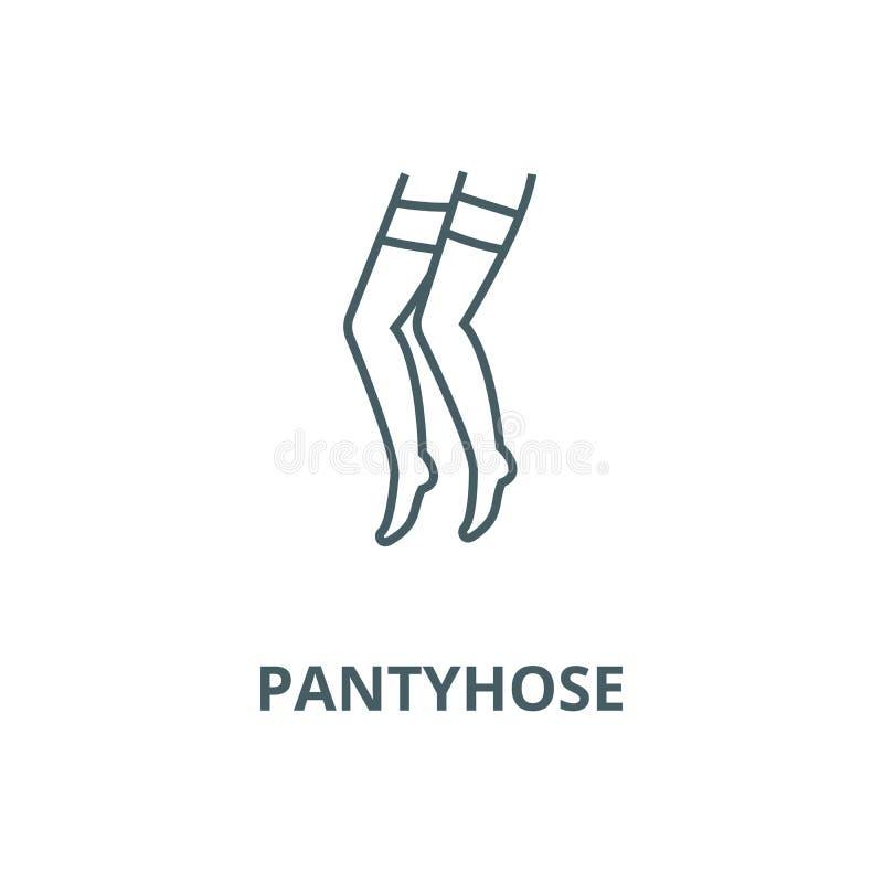Línea icono, concepto linear, muestra del esquema, símbolo del vector del panty libre illustration
