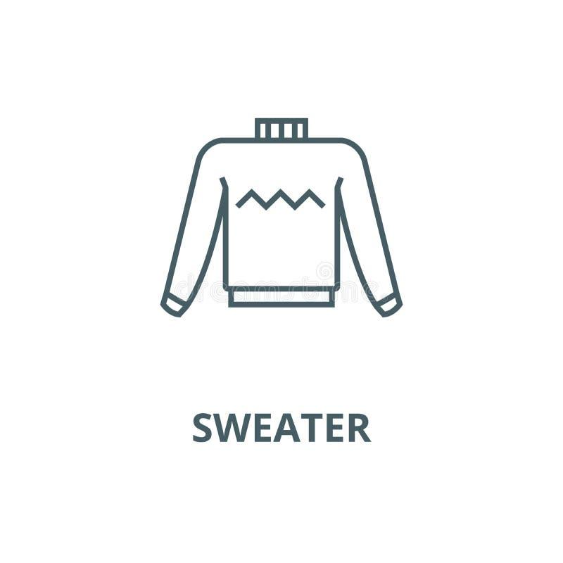 Línea icono, concepto linear, muestra del esquema, símbolo del vector del suéter ilustración del vector
