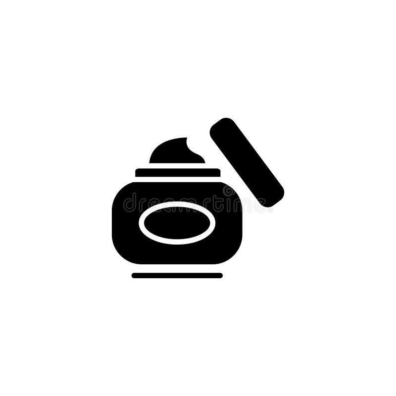 Línea icono Crema de la mano, crema de cara libre illustration
