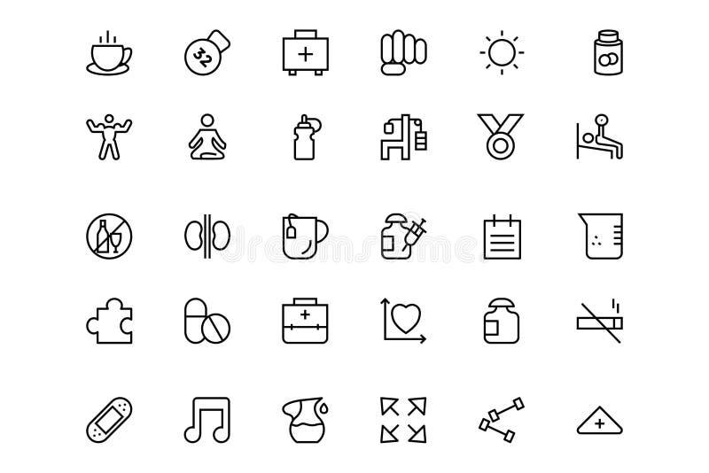 Línea icono 3 de la aptitud ilustración del vector