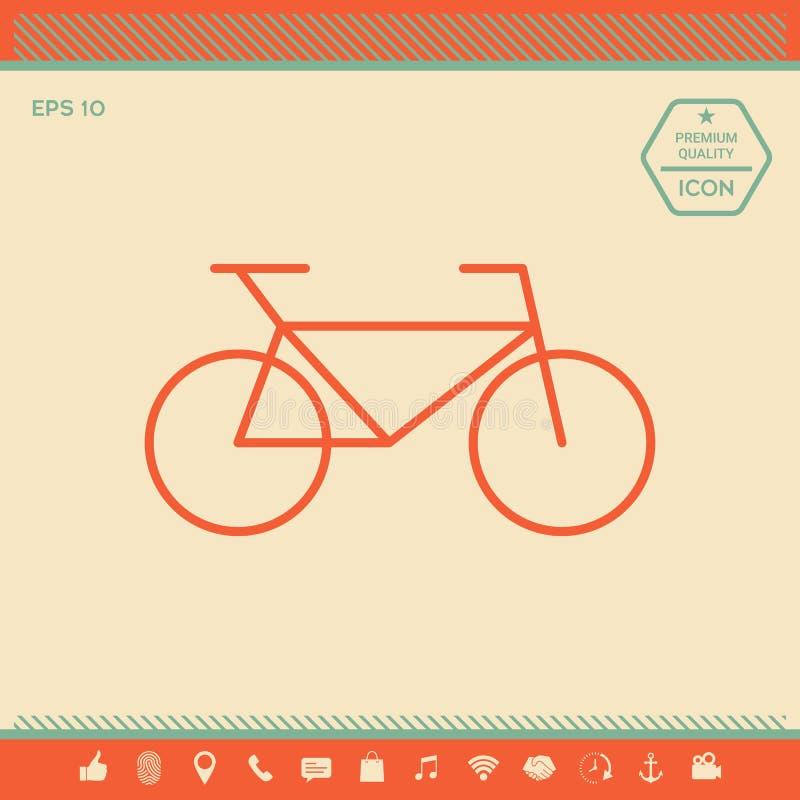 Línea icono de la bicicleta stock de ilustración