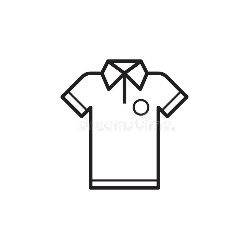 Línea icono de la camiseta stock de ilustración