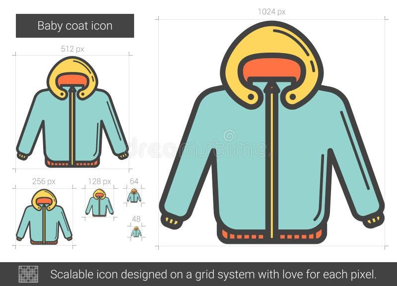 Línea icono de la capa del bebé stock de ilustración