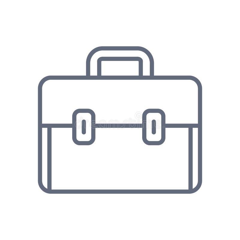 Línea icono, de la cartera de la cartera símbolo aislado vector stock de ilustración