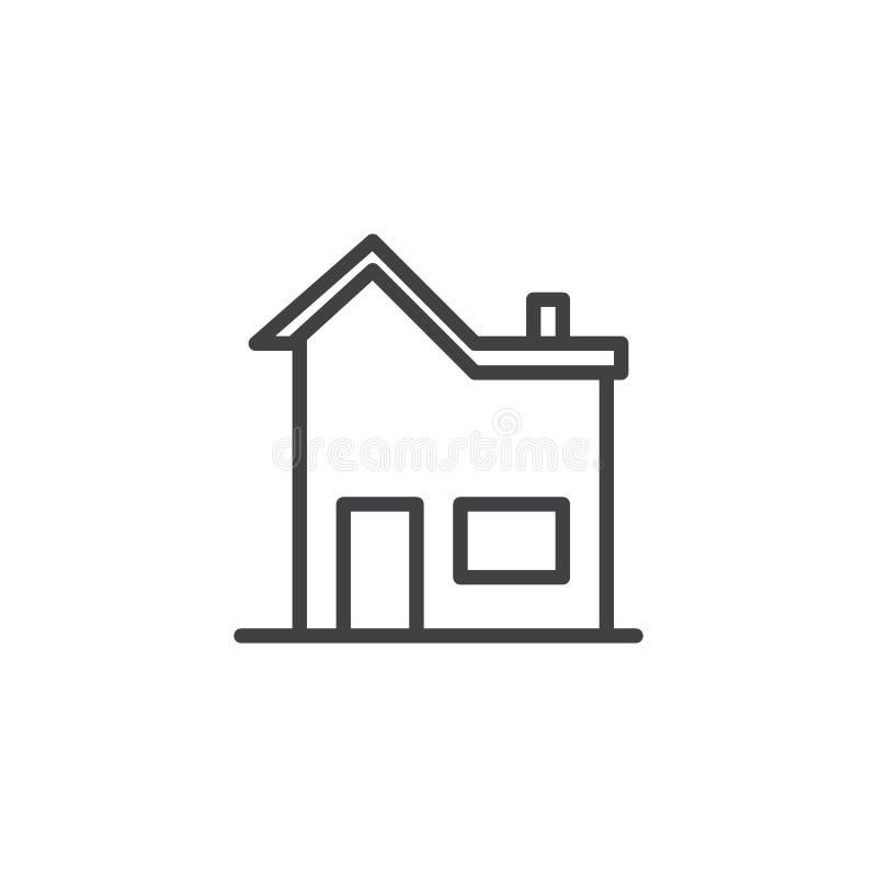 Línea icono de la casa ilustración del vector