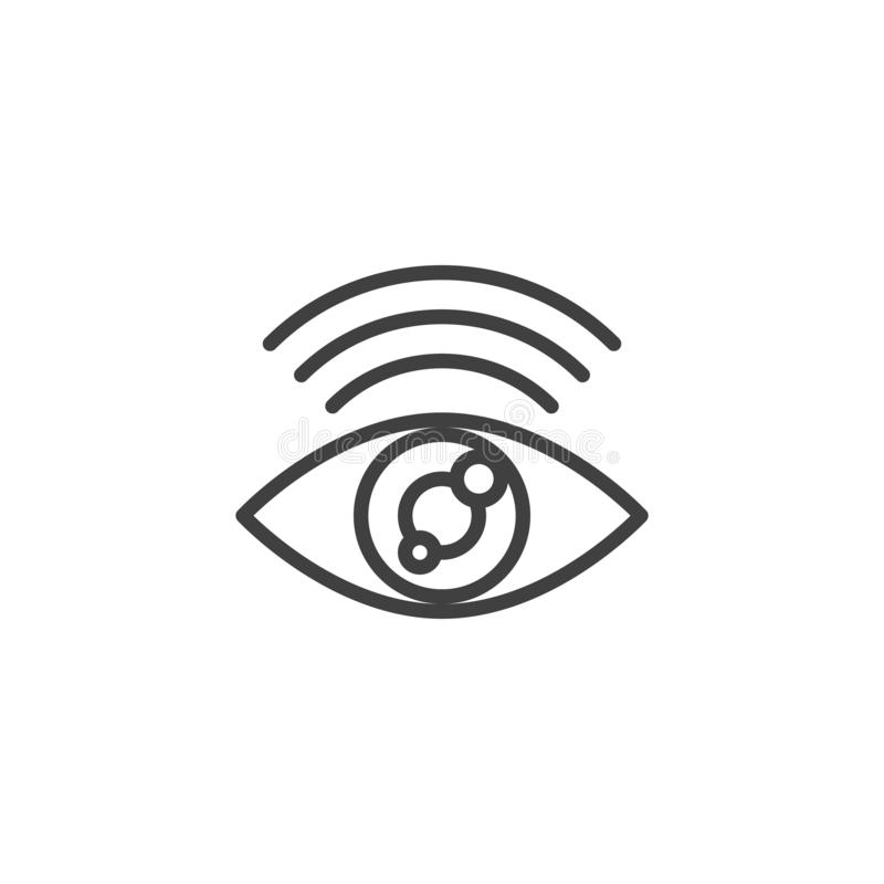 Línea icono de la conexión a internet del hallazgo libre illustration