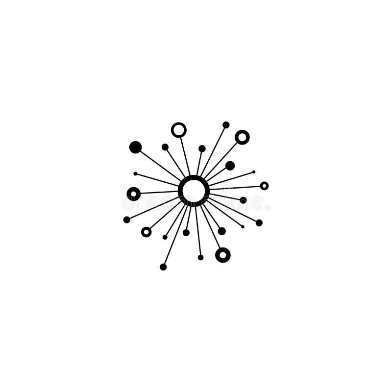 Línea icono de la conexión de red del eje aislado en blanco Logotipo de la tecnología o de la tecnología Botón del servidor o de  libre illustration