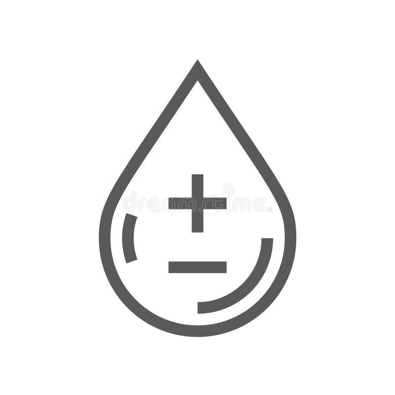 Línea icono de la diabetes ilustración del vector