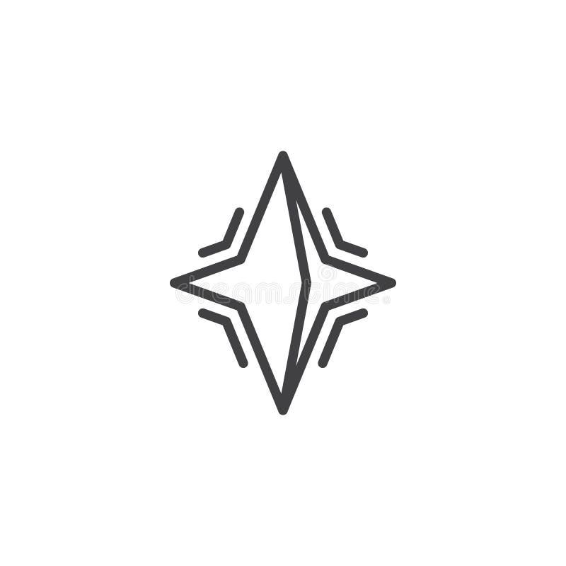 Línea icono de la estrella de neutrón stock de ilustración