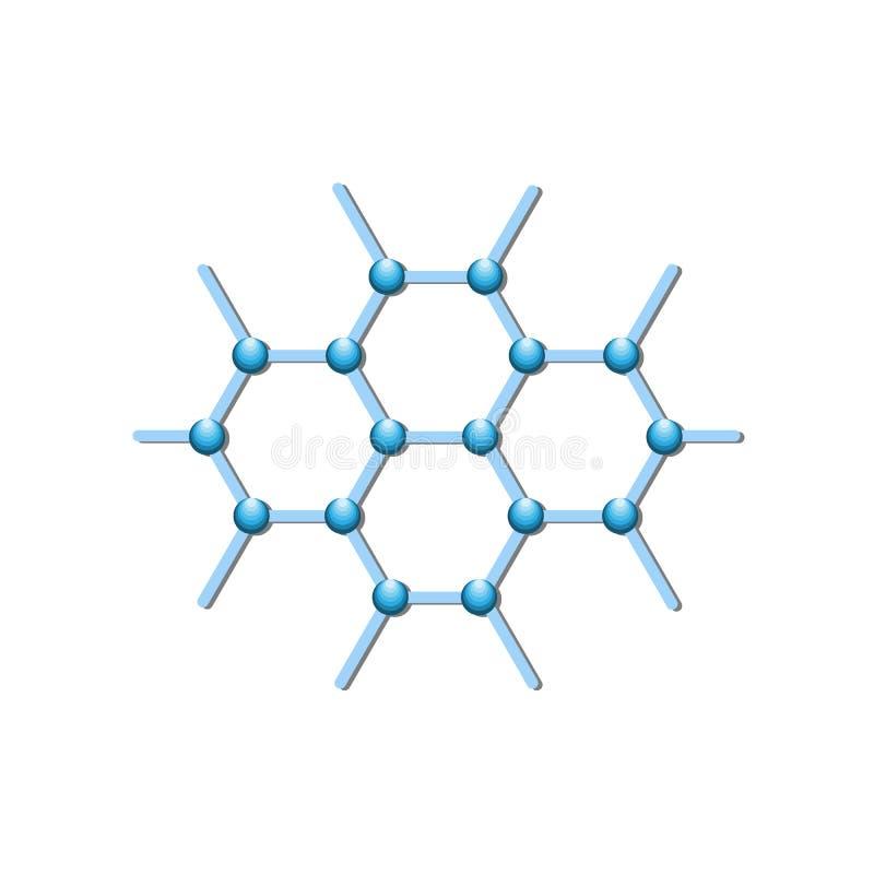 Línea icono de la estructura molecular para infographic, el sitio web o el app libre illustration