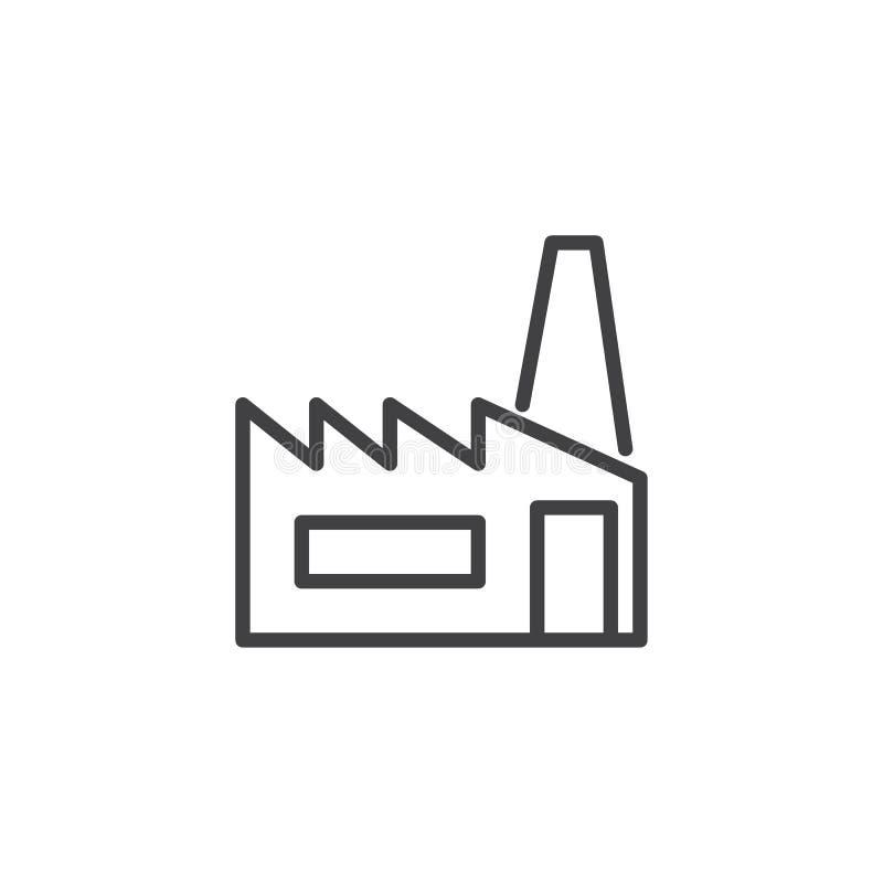 Línea icono de la fábrica libre illustration