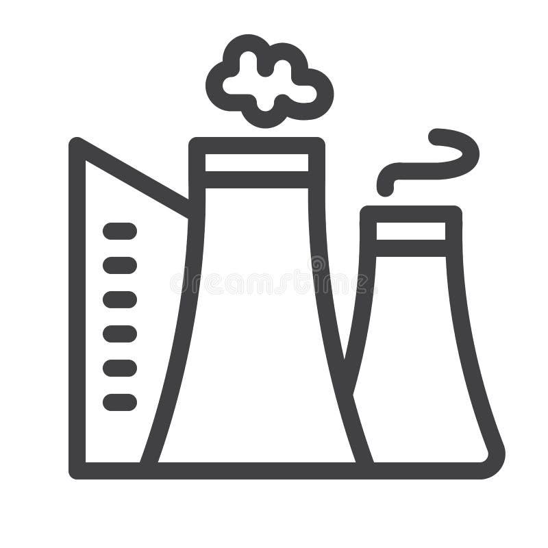 Línea icono de la fábrica ilustración del vector