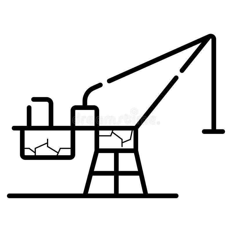 Línea icono de la grúa libre illustration