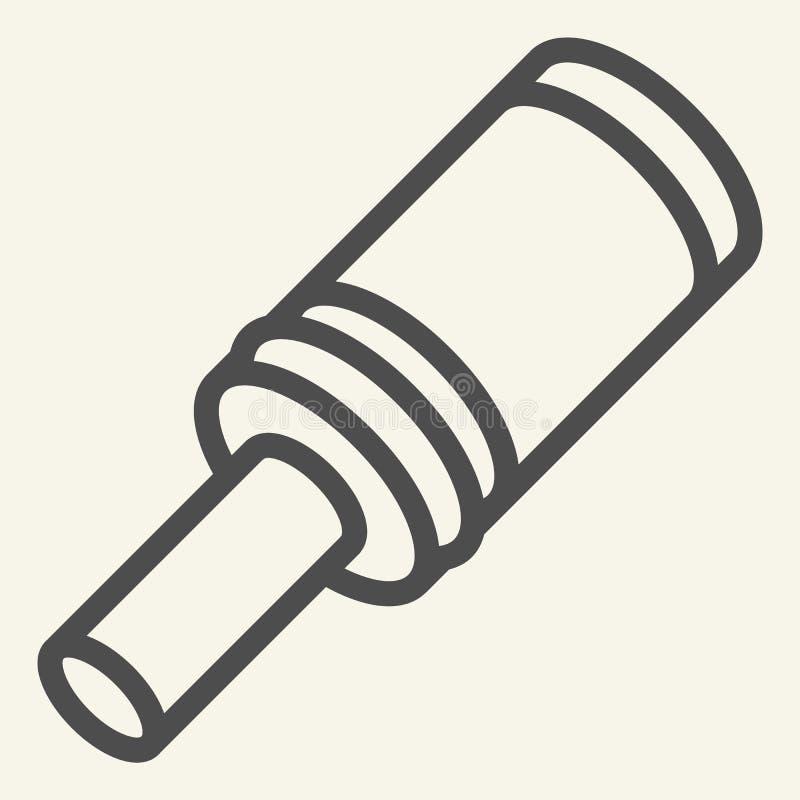 Línea icono de la granada Estalle el ejemplo del vector aislado en blanco Diseño del estilo del esquema de la bomba, diseñado par ilustración del vector