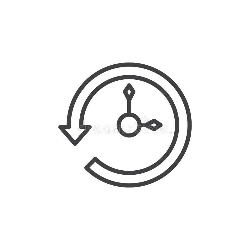 Línea icono de la historia ilustración del vector