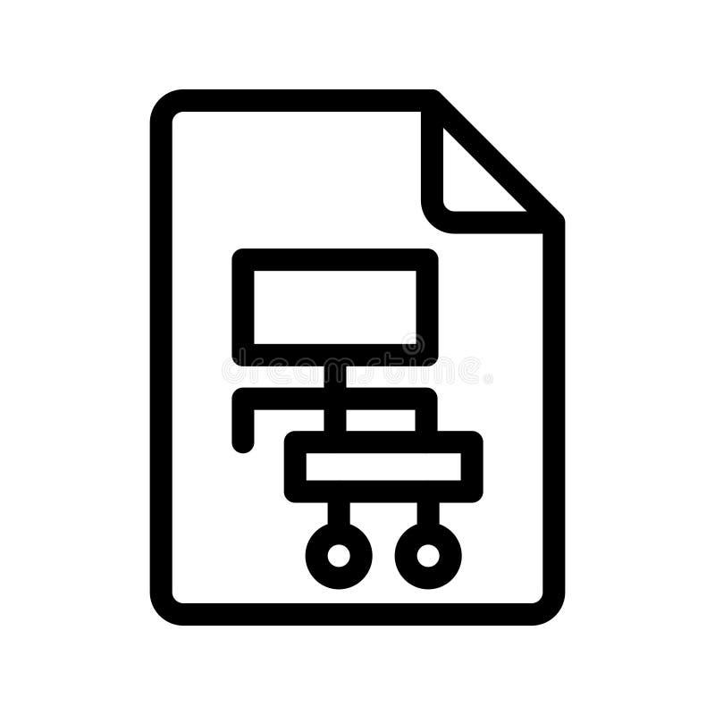 Línea icono de la jerarquía del vector ilustración del vector