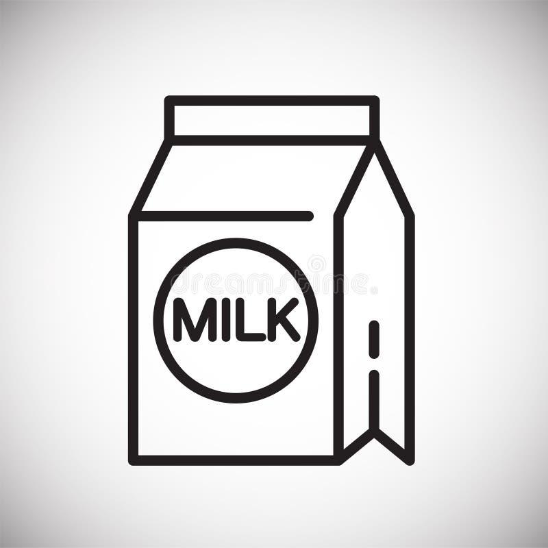 Línea icono de la leche en el fondo blanco para el gráfico y el diseño web, muestra simple moderna del vector Concepto del Intern stock de ilustración