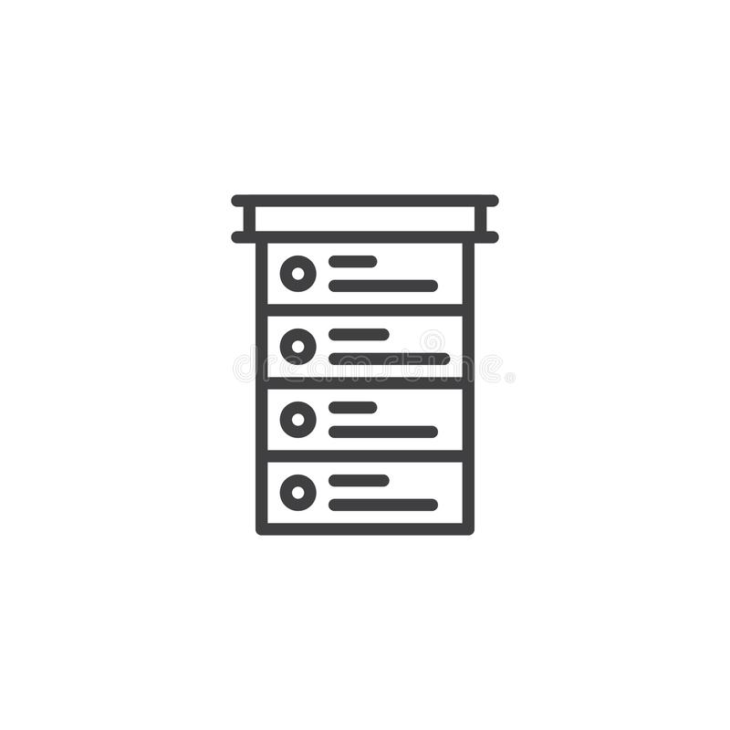 Línea icono de la lista de control libre illustration