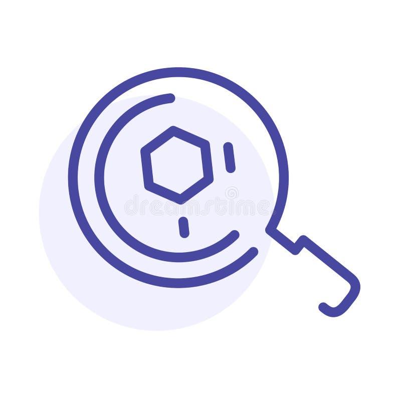 Línea icono de la LUPA Análisis, lupa Muestra del web del vector, botón libre illustration