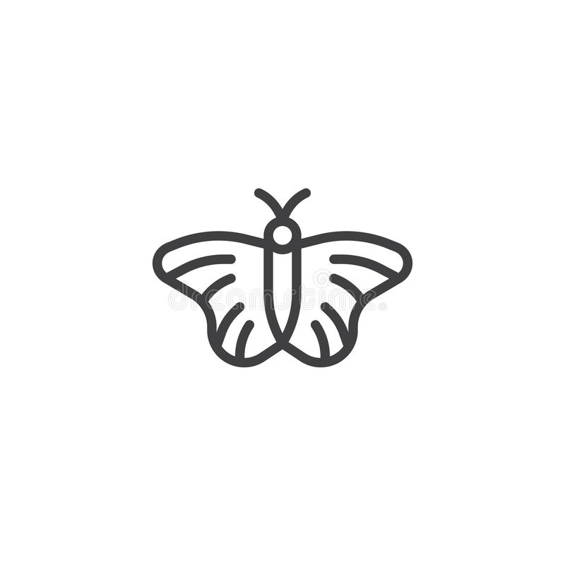 Línea icono de la mariposa libre illustration